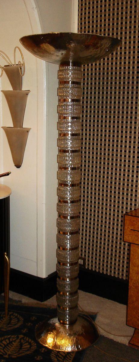 italienische stehlampe aus verspiegeltem glas 1950 bei pamono kaufen. Black Bedroom Furniture Sets. Home Design Ideas