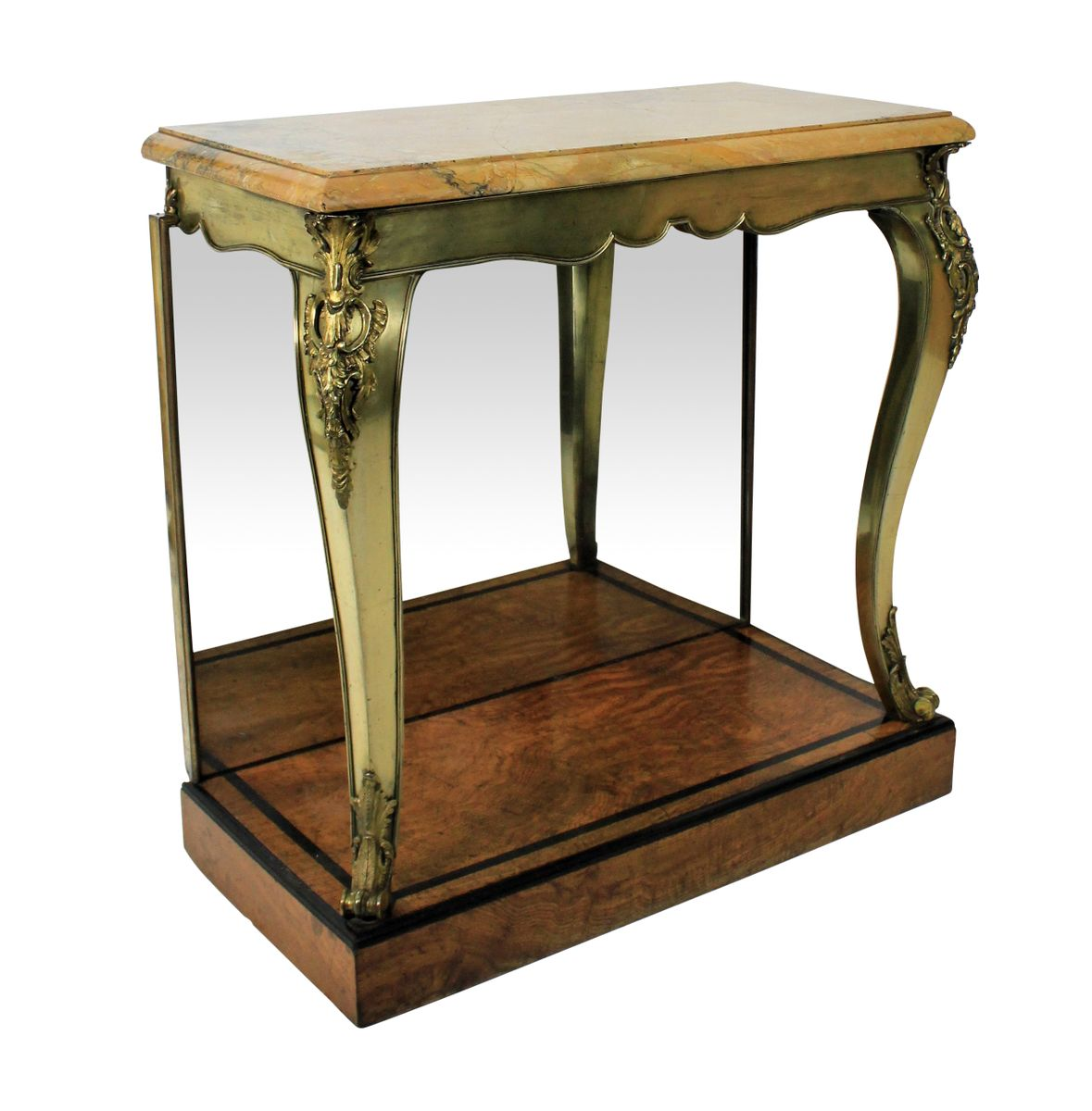 Antique British Gilt Bronze Console Table