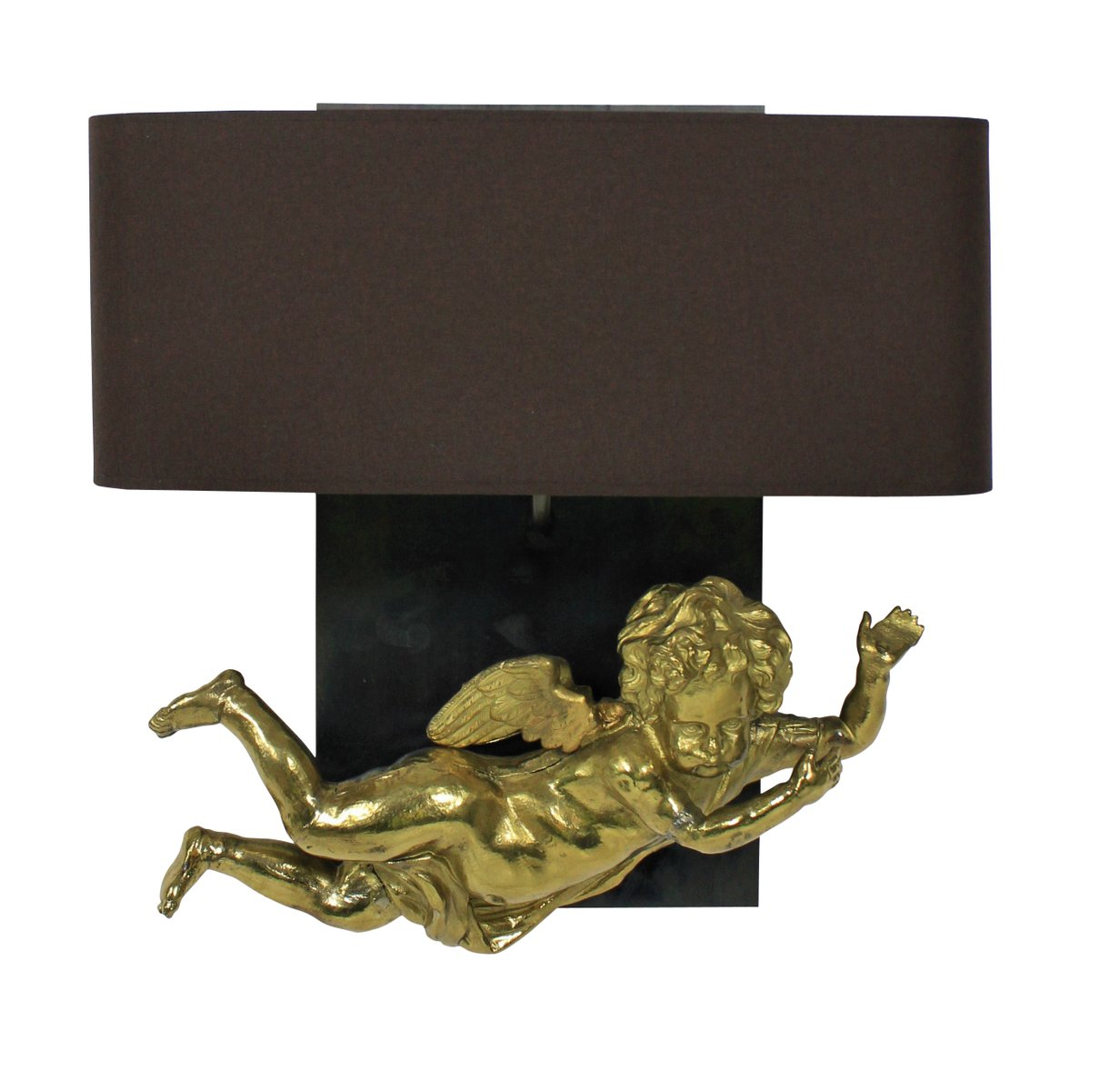 Wall Sconces Set Of 2 : Antique French Cherub Wall Sconces, Set of 2 for sale at Pamono