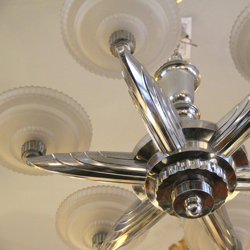lampe art d co large par henry petitot pour atelier petitot france 1930s en vente sur pamono. Black Bedroom Furniture Sets. Home Design Ideas