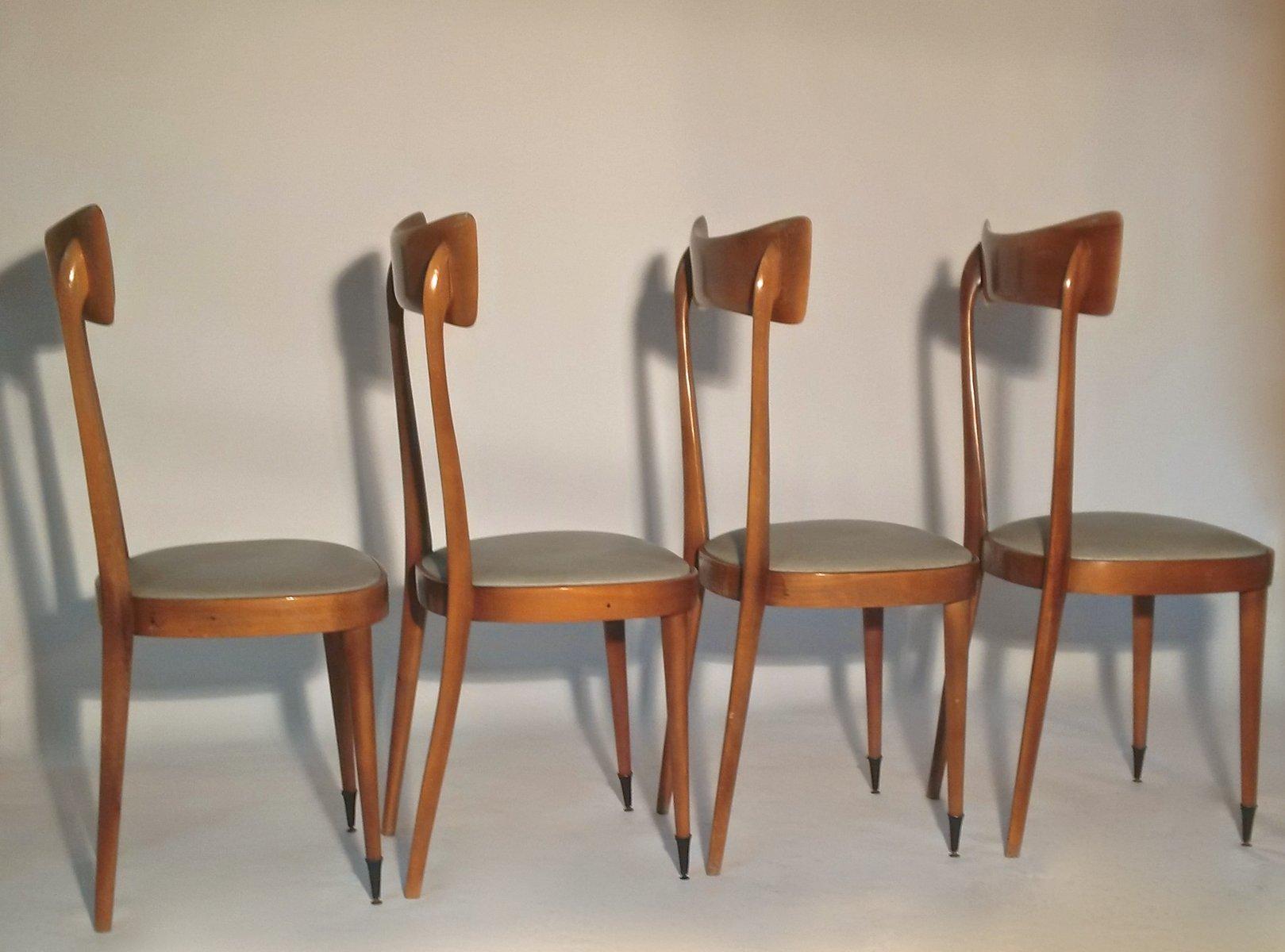 italienische mid century esszimmer stühle, 4er set bei pamono kaufen, Esstisch ideennn