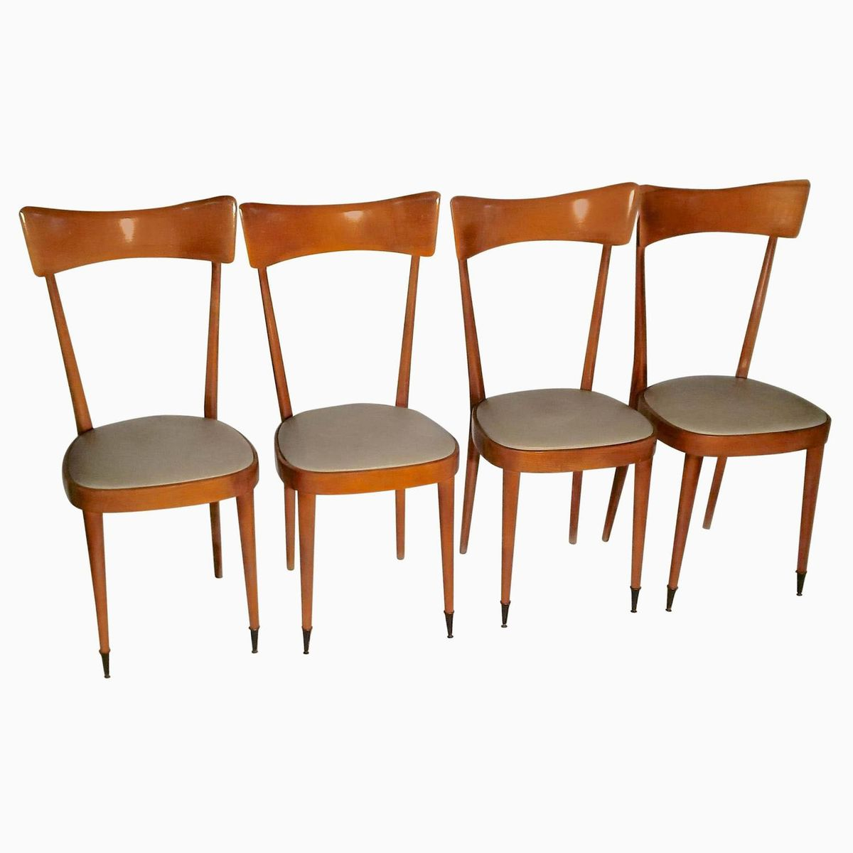 Mid century italian dining chairs set of 4 for sale at pamono for Chair in italian