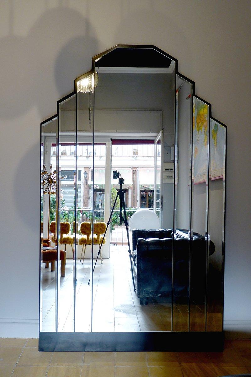 Vintage art deco spiegel mit schr gen kanten bei pamono kaufen - Deco spiegel ...