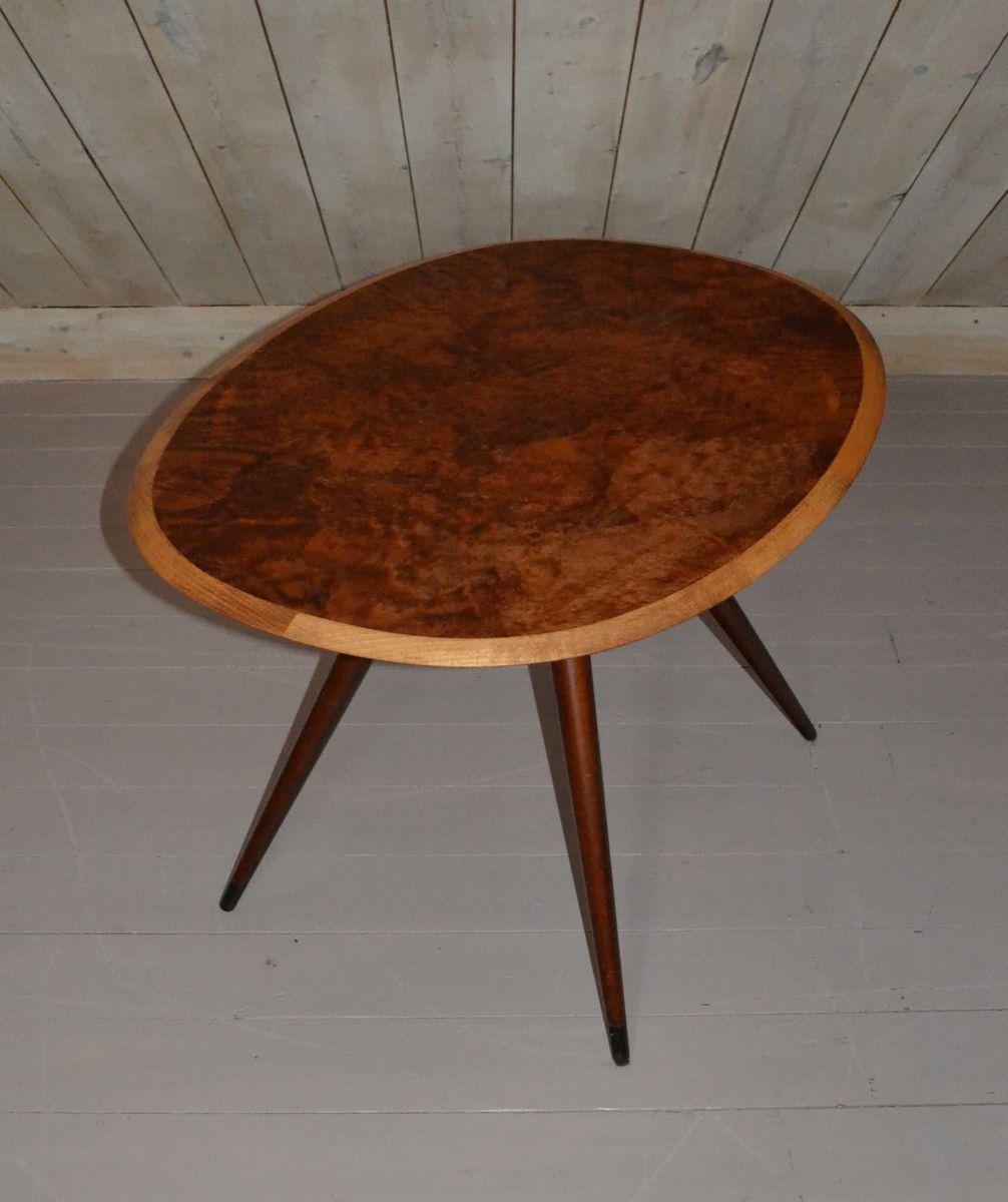 table basse vintage ovale 1959 en vente sur pamono. Black Bedroom Furniture Sets. Home Design Ideas