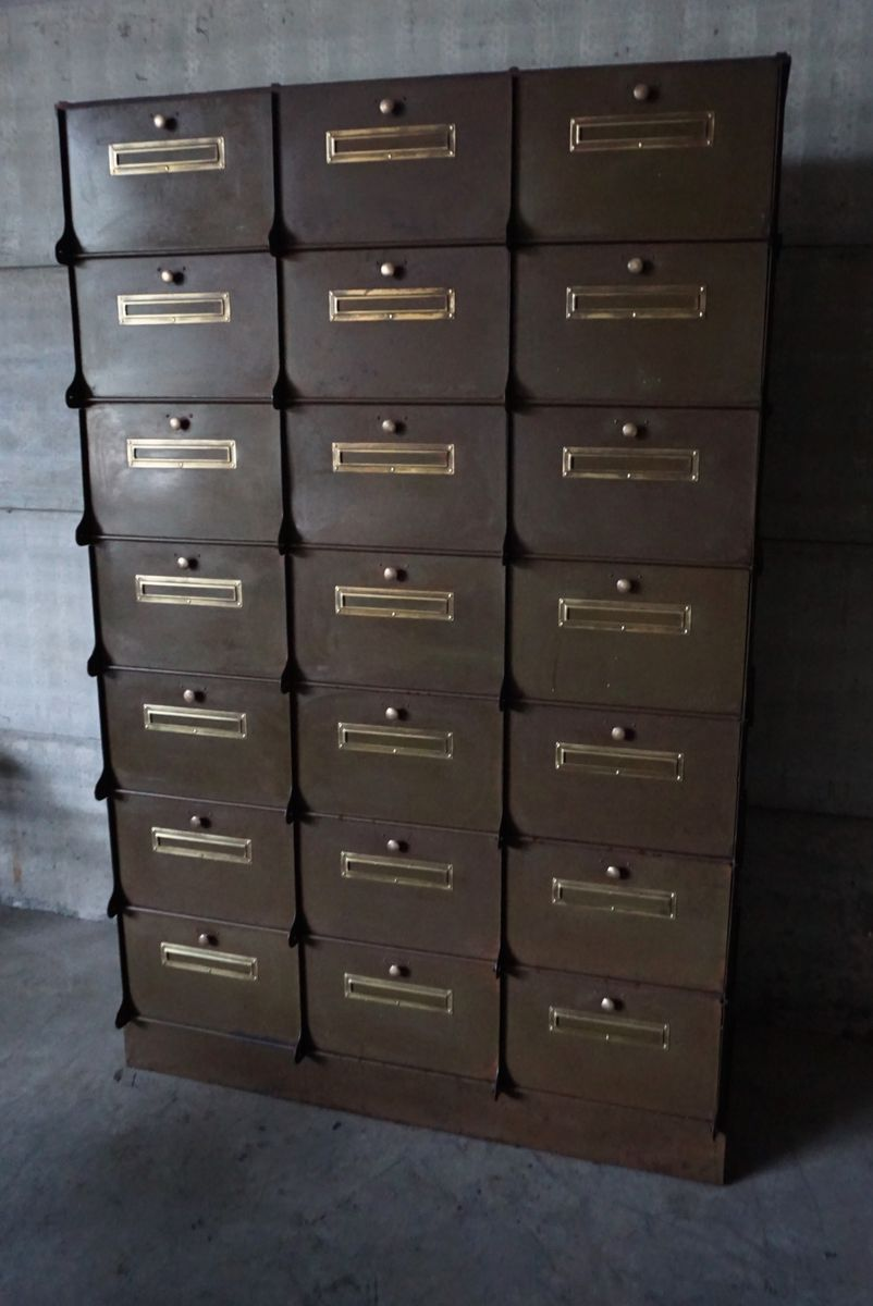 Industrial filing cabinet from ribeauville for sale at pamono - Armoire industrielle ancienne ...