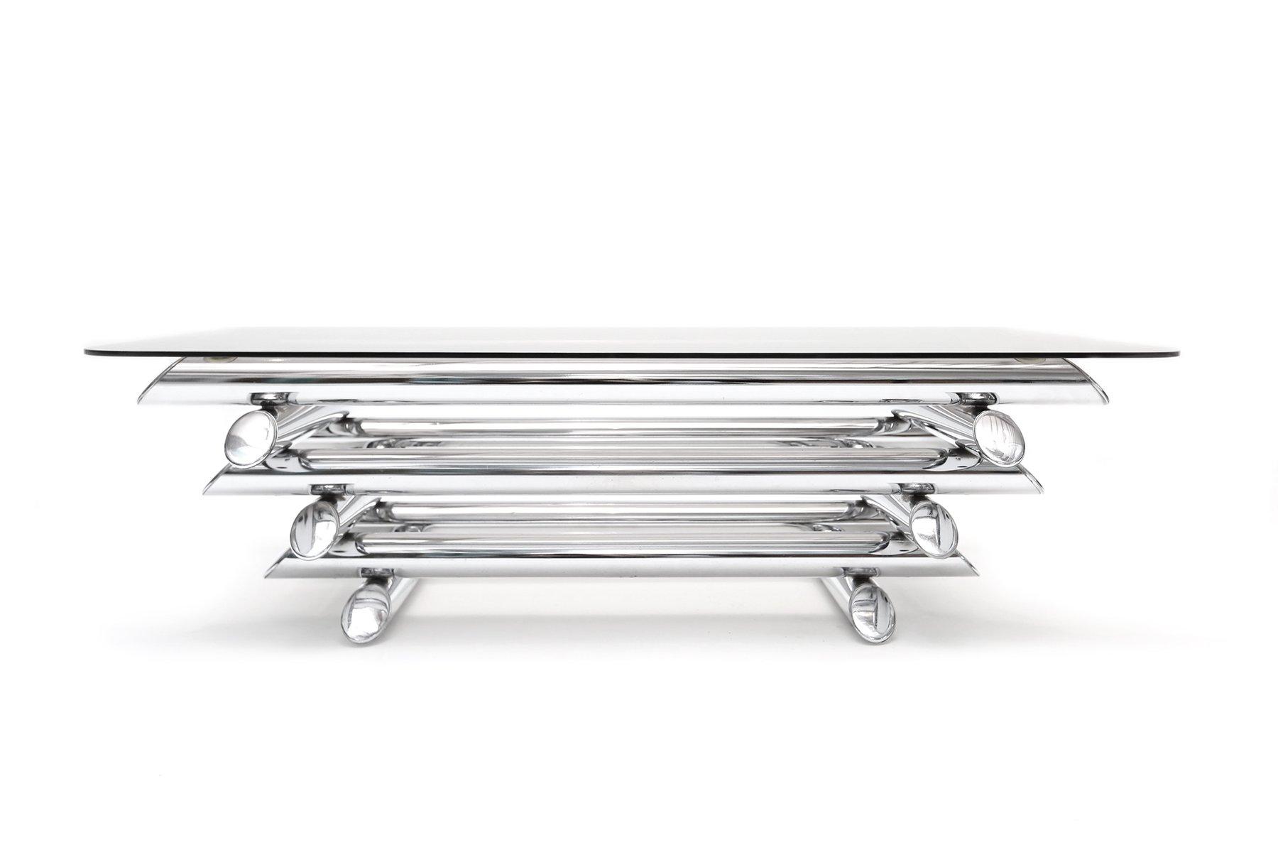 Tubular chrome coffee table for sale at pamono tubular chrome coffee table geotapseo Images