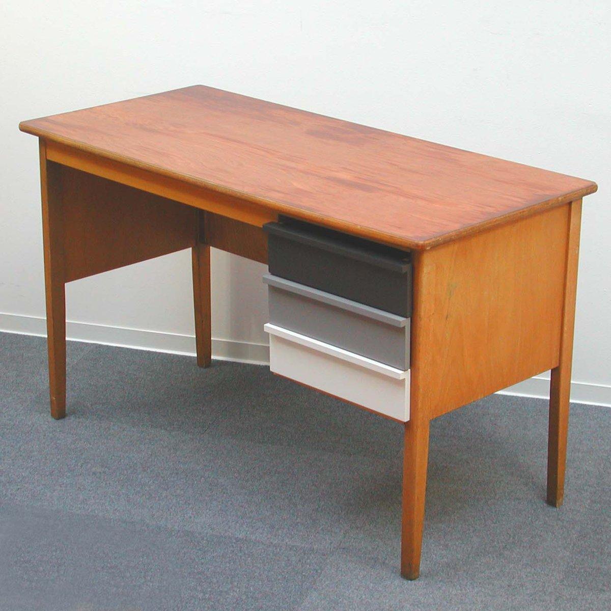 vintage wooden teacher 39 s desk 1960s for sale at pamono. Black Bedroom Furniture Sets. Home Design Ideas