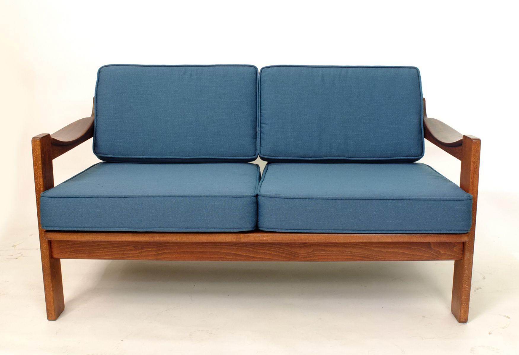blaues zwei sitzer sofa von ag barcelona bei pamono kaufen. Black Bedroom Furniture Sets. Home Design Ideas