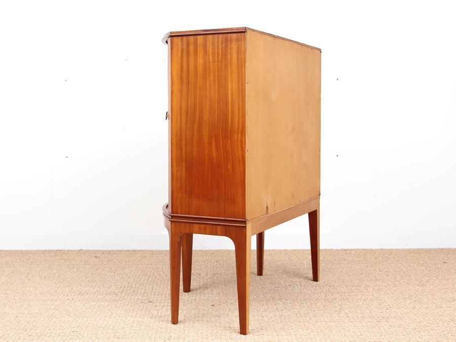 schwedischer mid century vintage schrank aus mahagoni und. Black Bedroom Furniture Sets. Home Design Ideas