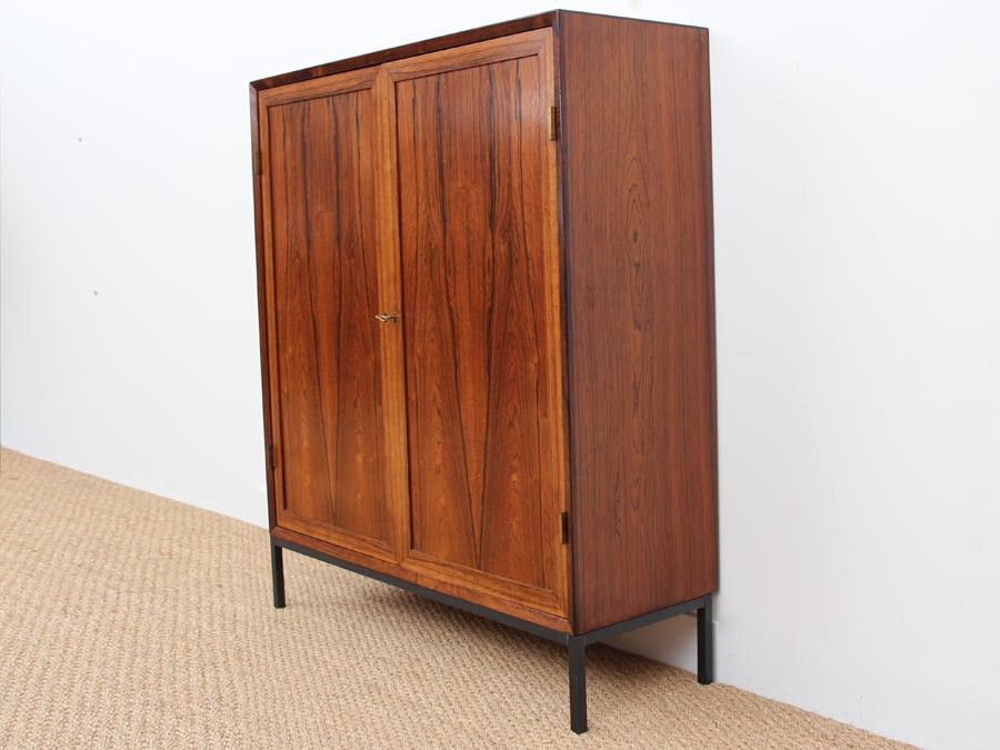 skandinavisches mid century sideboard aus rio palisander bei pamono kaufen. Black Bedroom Furniture Sets. Home Design Ideas