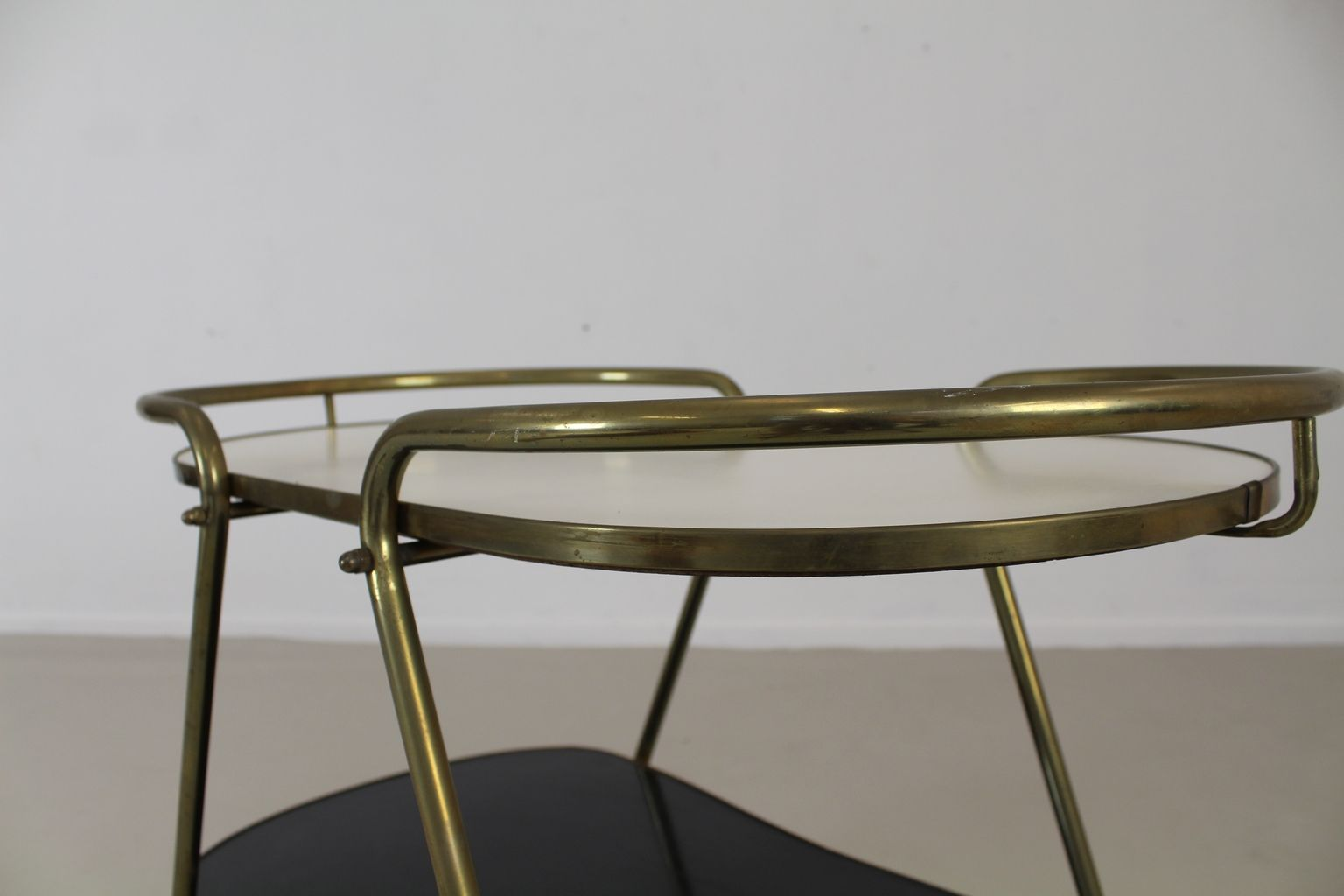 German Brass And Formica Tea Trolley From Ils Mobel 1965
