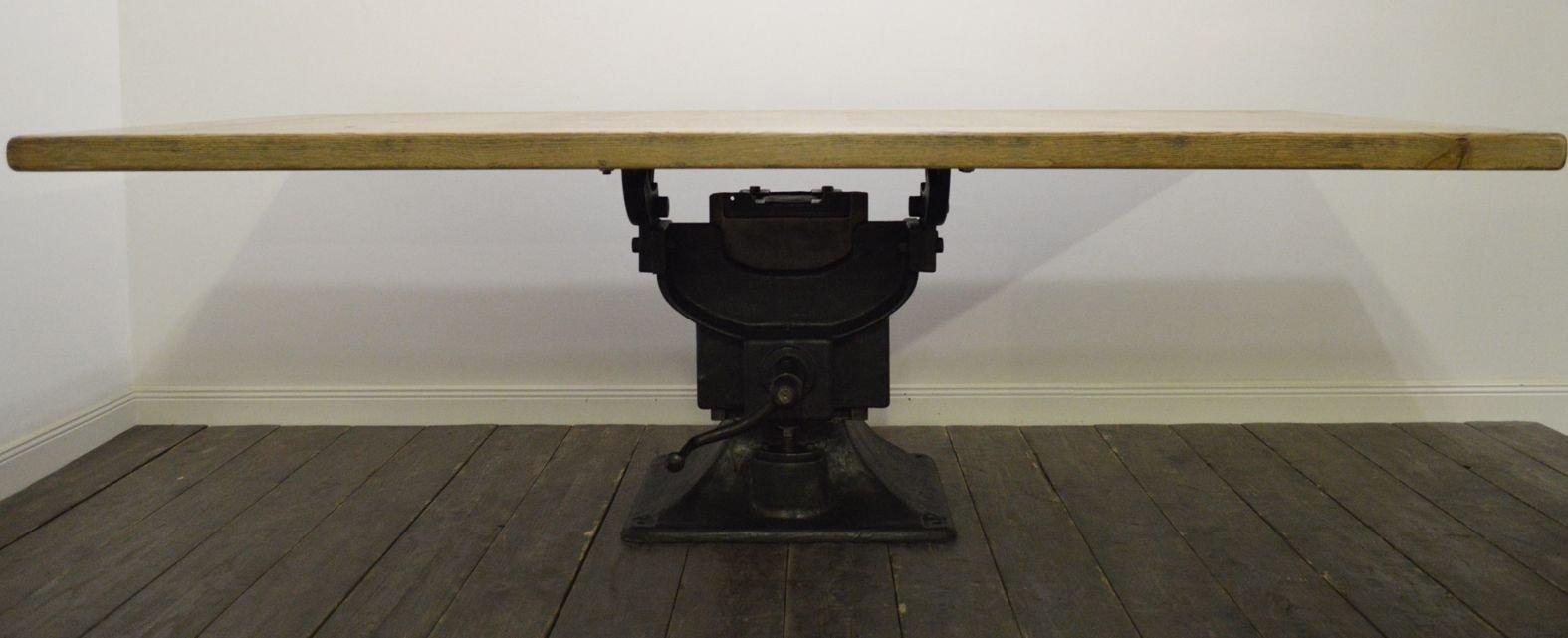 industrie tisch von guilliet fils 1914 bei pamono kaufen. Black Bedroom Furniture Sets. Home Design Ideas