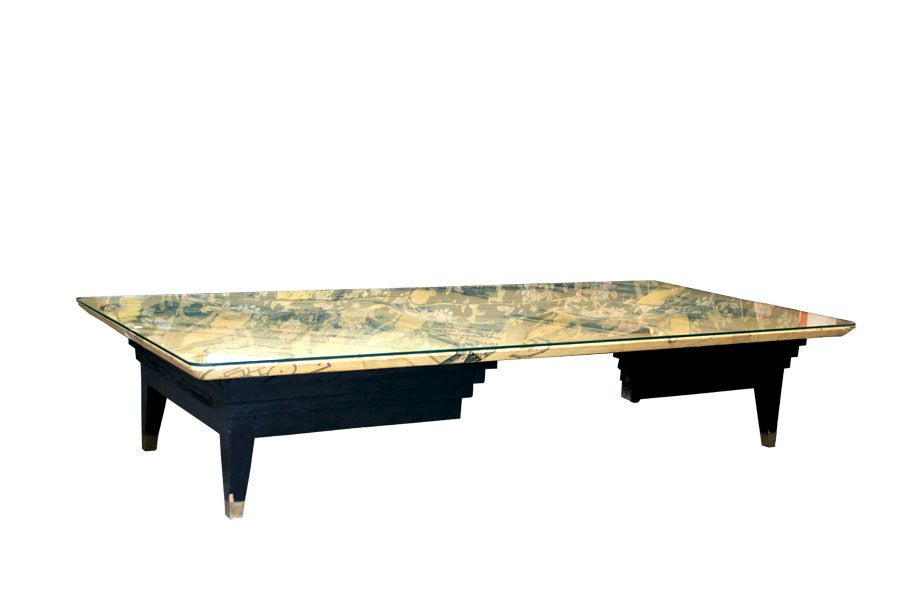 Large Italian Coffee Table Made With A Gio Ponti Cabinet For Sale At Pamono