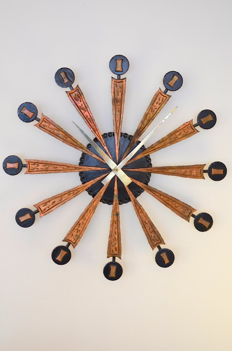 Sunburst Wall Clock 1960s For Sale At Pamono