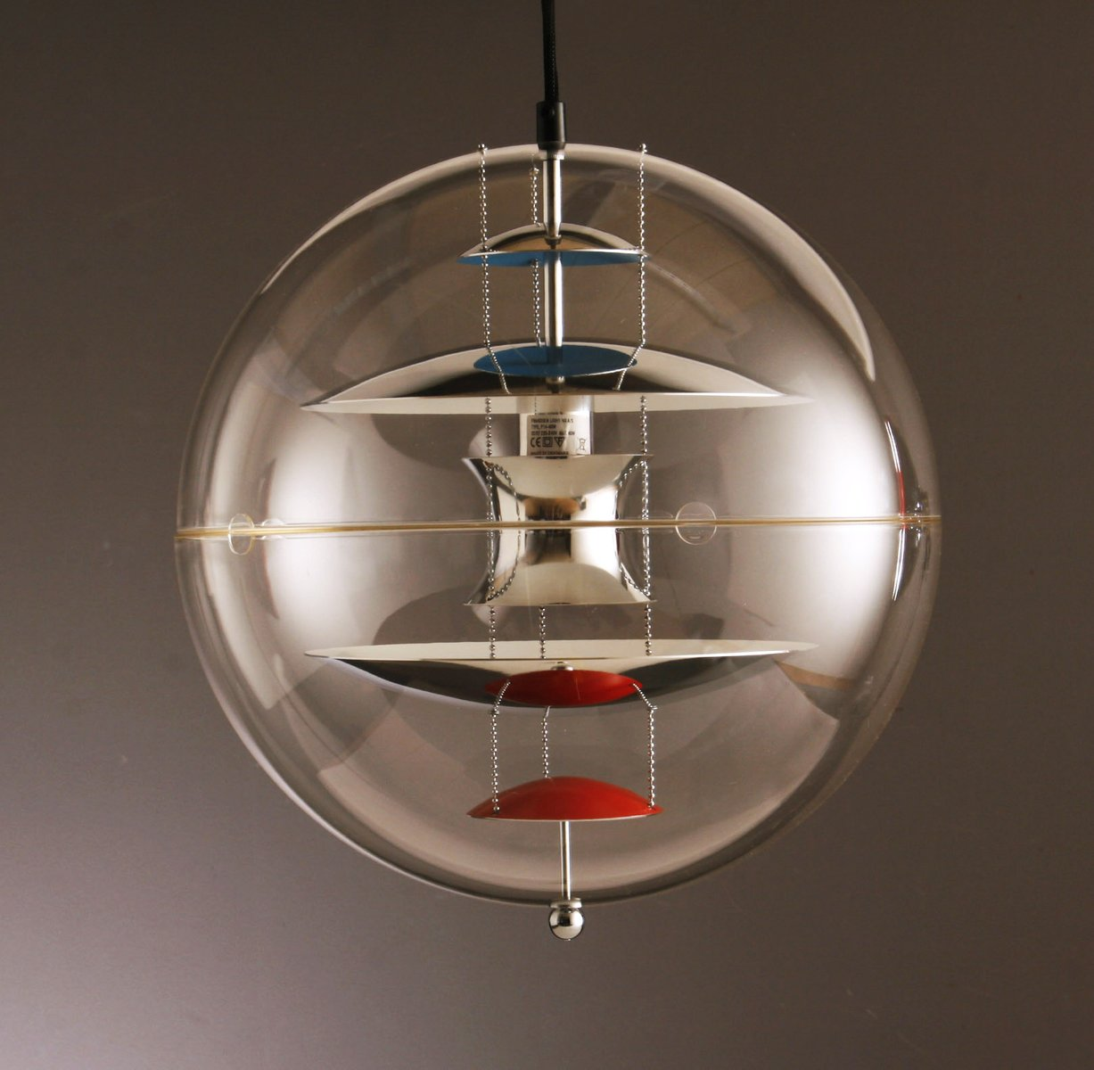 Awesome Large Globe Pendant By Verner Panton For Louis Poulsen, 1969 For . Pictures Gallery