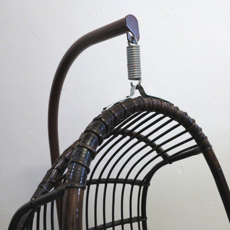 Vintage Rattan U0026 Bamboo Hanging Egg Chair