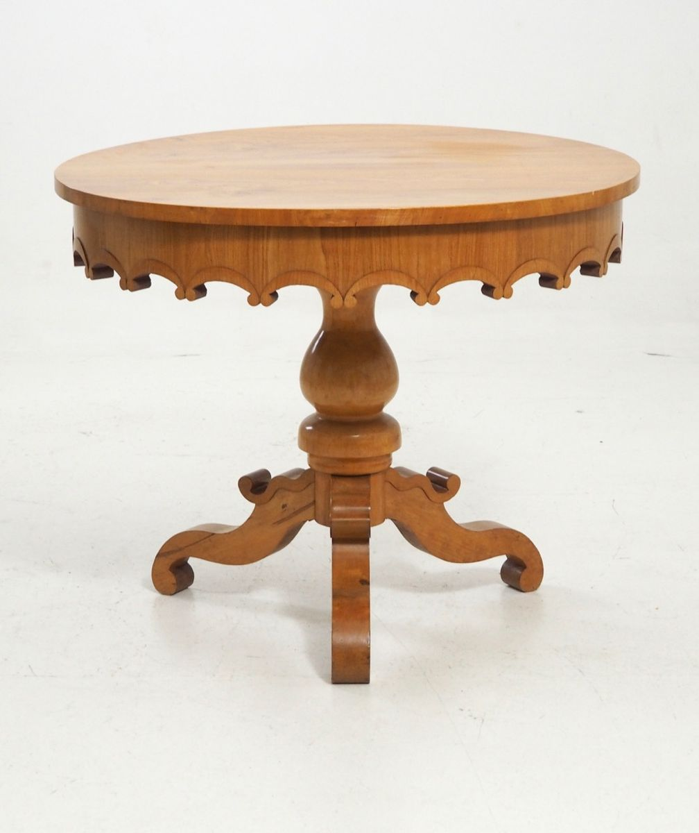small antique carved table 1830s for sale at pamono
