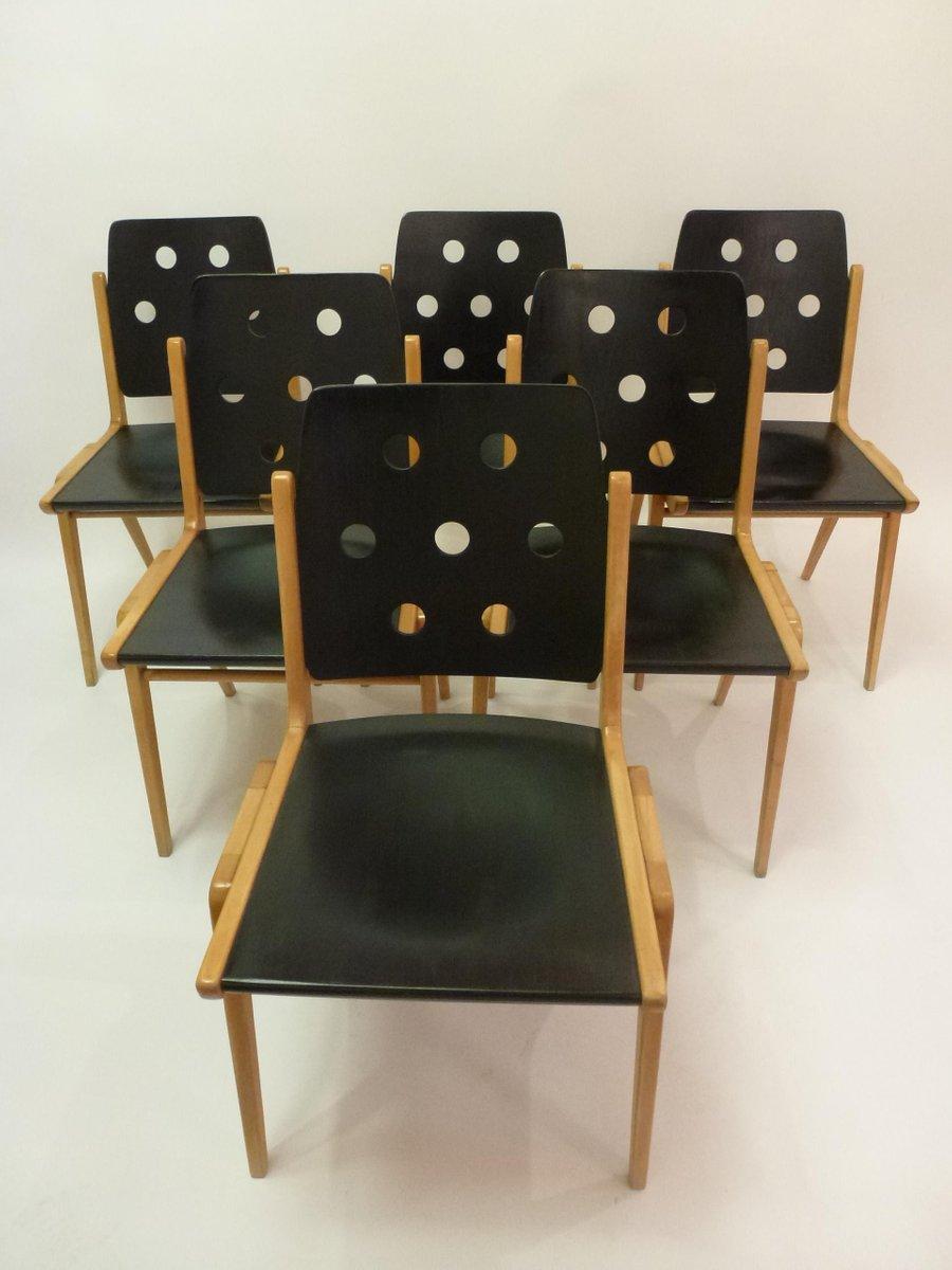 sterreichisches esszimmer set von franz schuster f r wiesner hager 7er set bei pamono kaufen. Black Bedroom Furniture Sets. Home Design Ideas