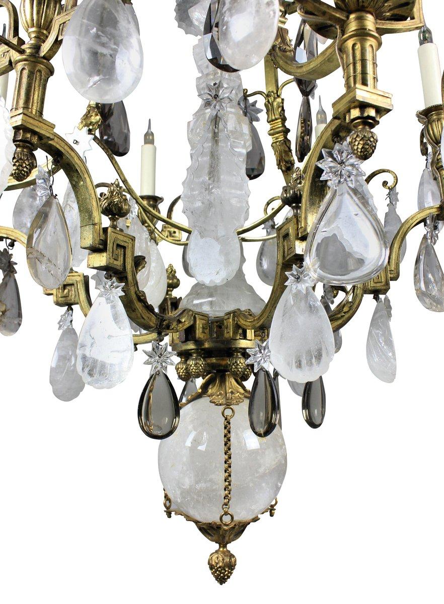 Gilt Bronze Rock Crystal Chandelier 1850s for sale at Pamono – Rock Crystal Chandelier
