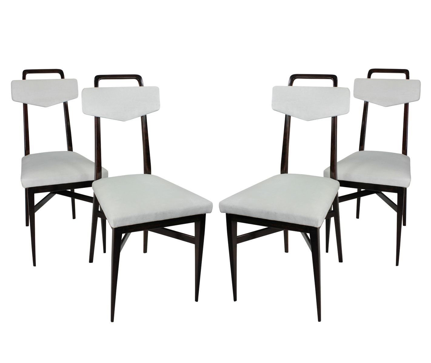 Italian Mahogany Dining Chairs 1950s Set Of 4 For Sale At Pamono