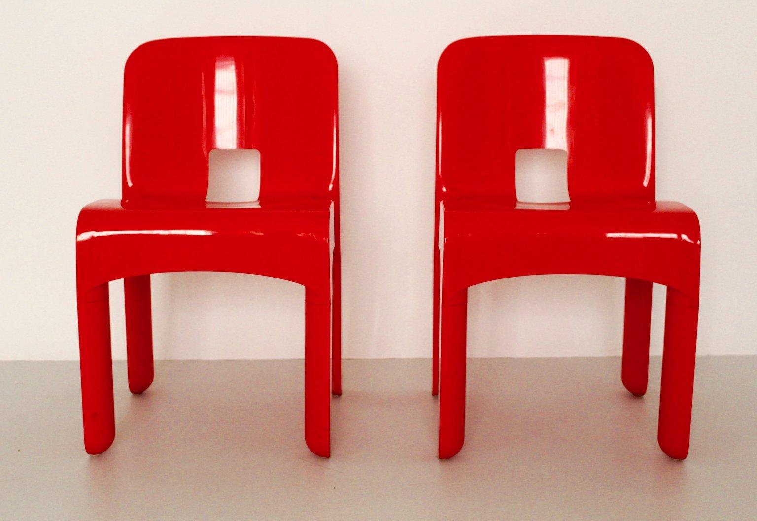 modell 4860 universale kunststoff st hle von joe colombo f r kartell 1960er 2er set bei pamono. Black Bedroom Furniture Sets. Home Design Ideas