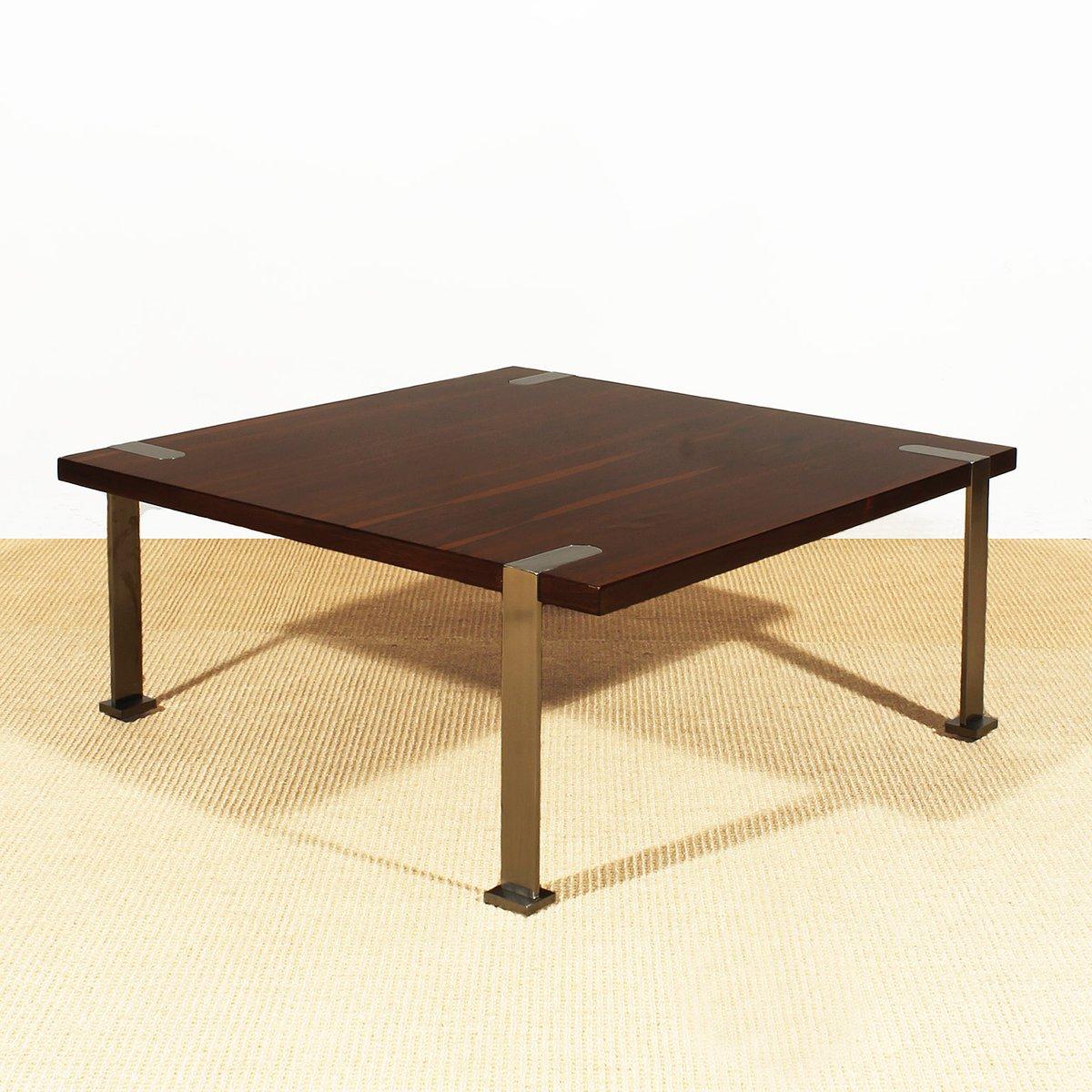 Italian mahogany and rosewood coffee table 1960s for sale for Italian coffee table