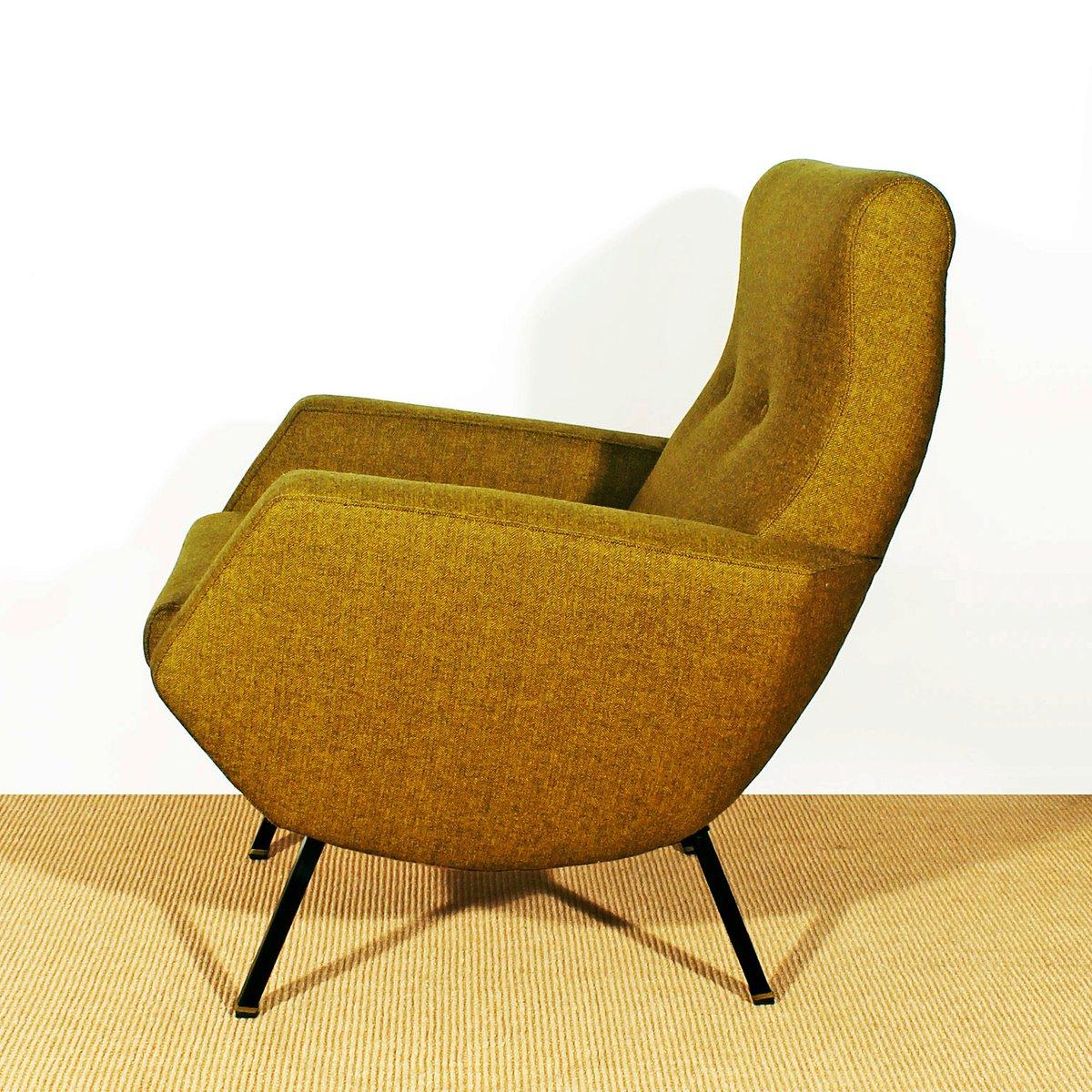 italienische senffarbene sessel 1960er 2er set bei pamono kaufen. Black Bedroom Furniture Sets. Home Design Ideas