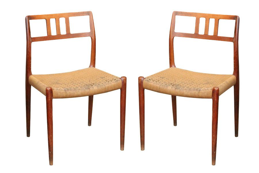 Model 79 Dining Chairs By Niels Otto M Ller For J L M Llers M Belfabrik Set