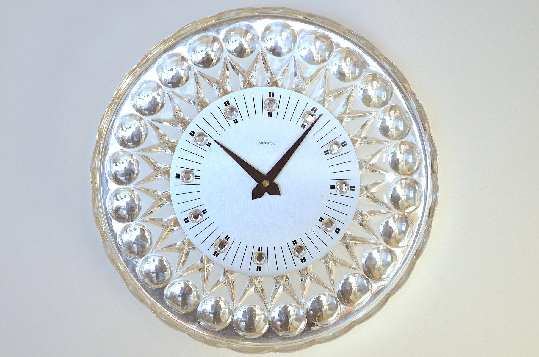Crystal wall clock for joska 1960s for sale at pamono amipublicfo Choice Image
