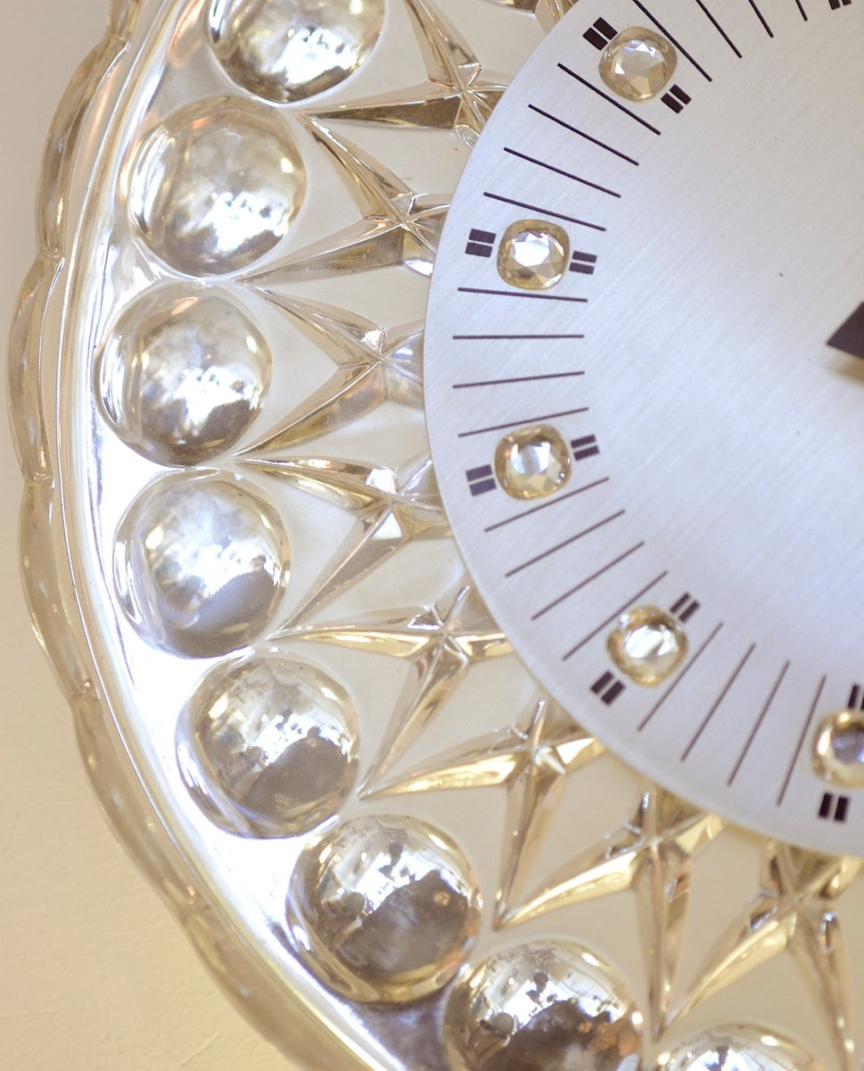 Crystal wall clock for joska 1960s for sale at pamono crystal wall clock for joska 1960s amipublicfo Choice Image