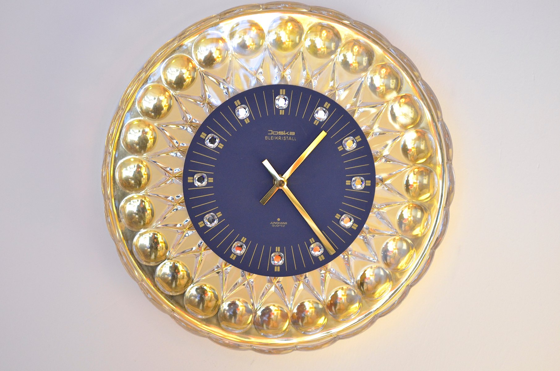 Glass Wall Clock For Joska 1960s For Sale At Pamono
