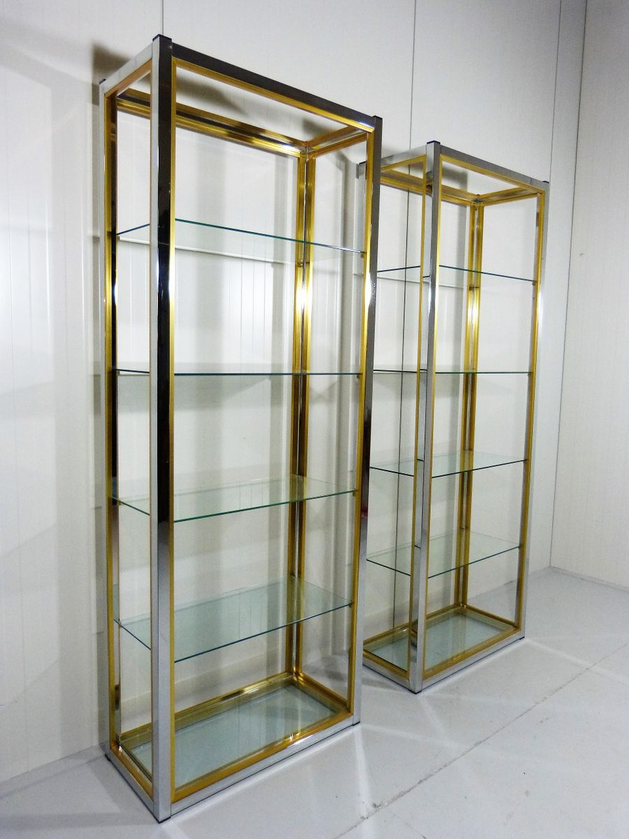 vintage brass chrome etagere 1970s for sale at pamono. Black Bedroom Furniture Sets. Home Design Ideas