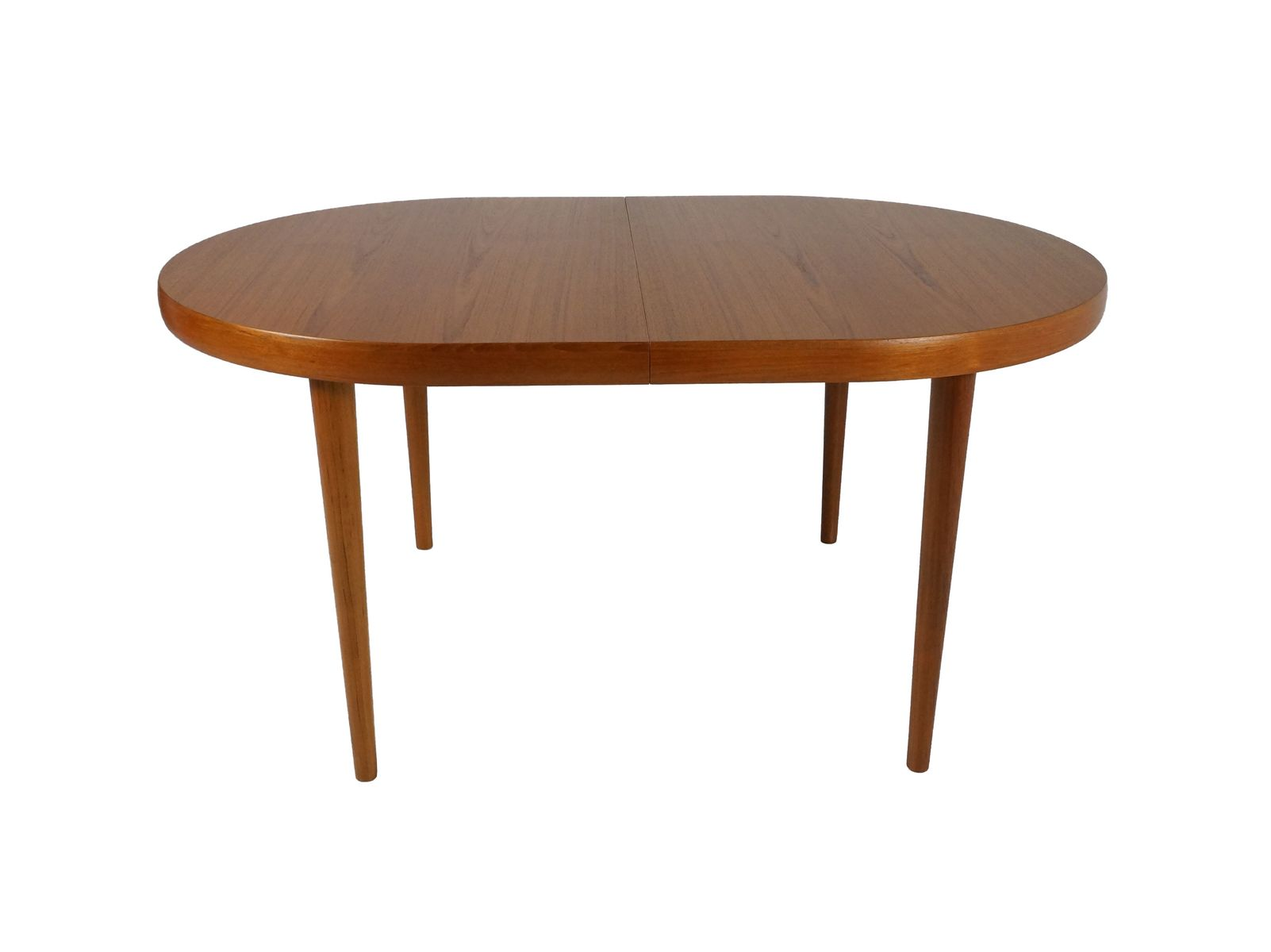 Table de salle manger vintage extensible ovale en teck for Salle a manger table ovale
