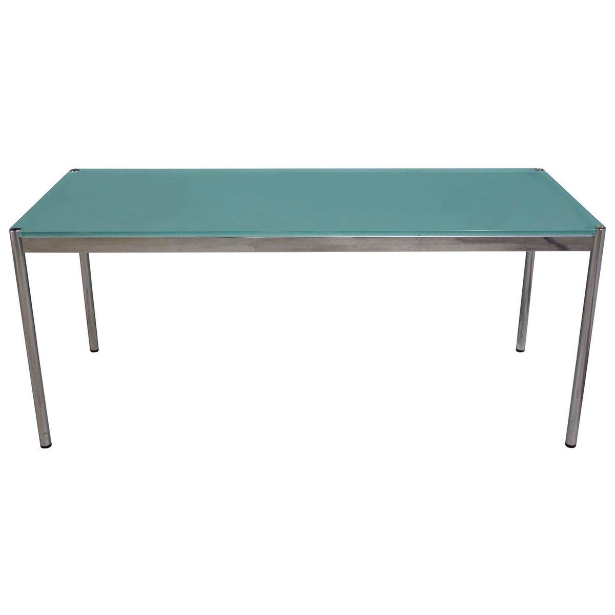 tisch mit glasplatte von fritz haller paul sch rer f r. Black Bedroom Furniture Sets. Home Design Ideas
