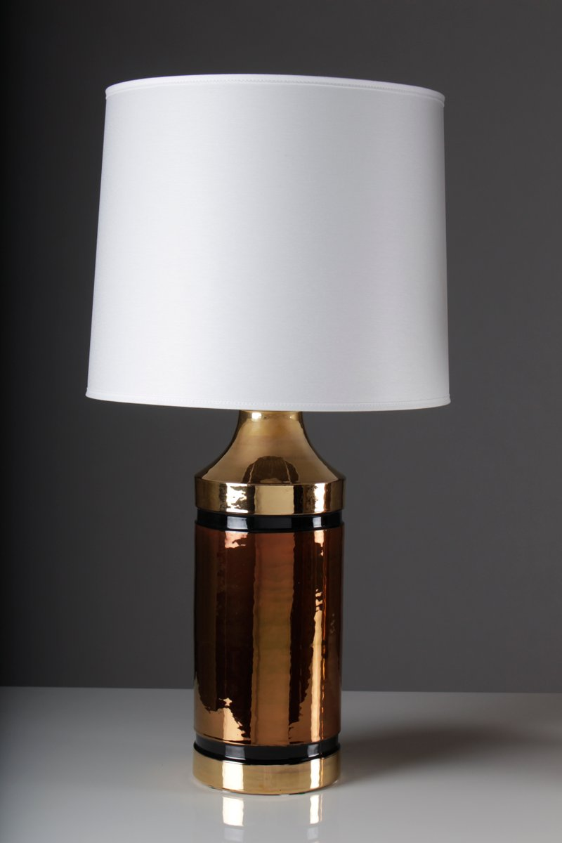 Glazed Ceramic Table Lamps By Bitossi For Bergbom Set Of