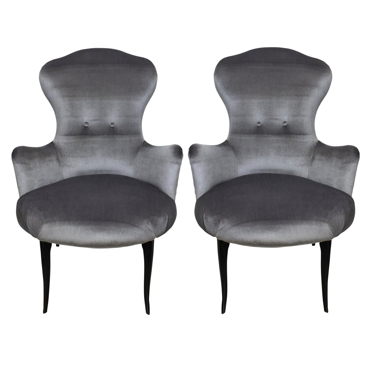 italian velvet bedroom easy chairs 1950s set of 2 for sale at pamono