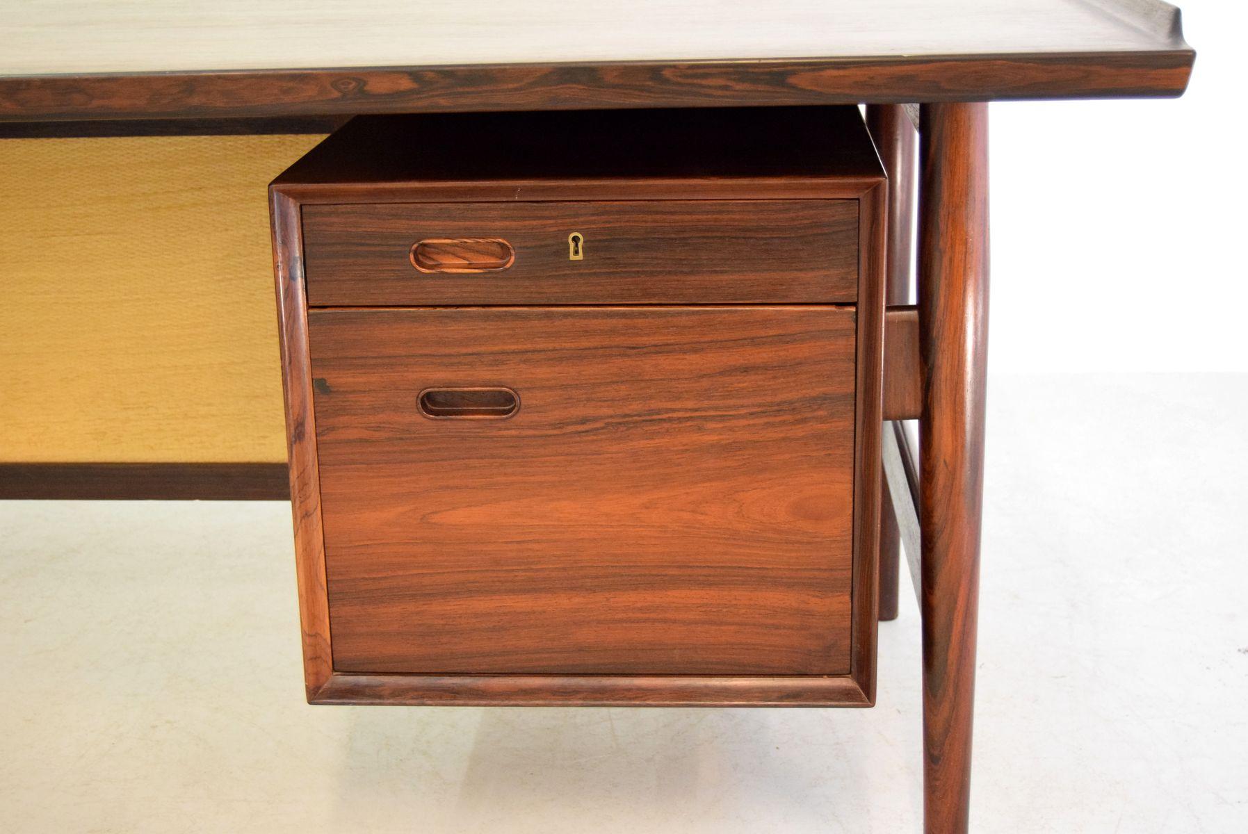 palisander schreibtisch von arne vodder f r sibast. Black Bedroom Furniture Sets. Home Design Ideas