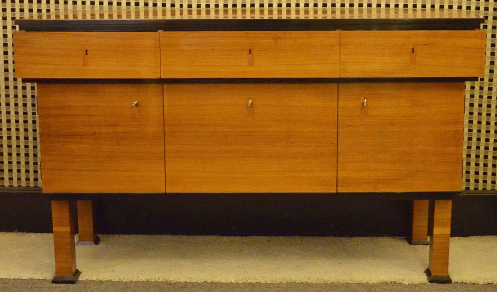 art deco italian sideboard with flap drawer 1920 for sale at pamono. Black Bedroom Furniture Sets. Home Design Ideas
