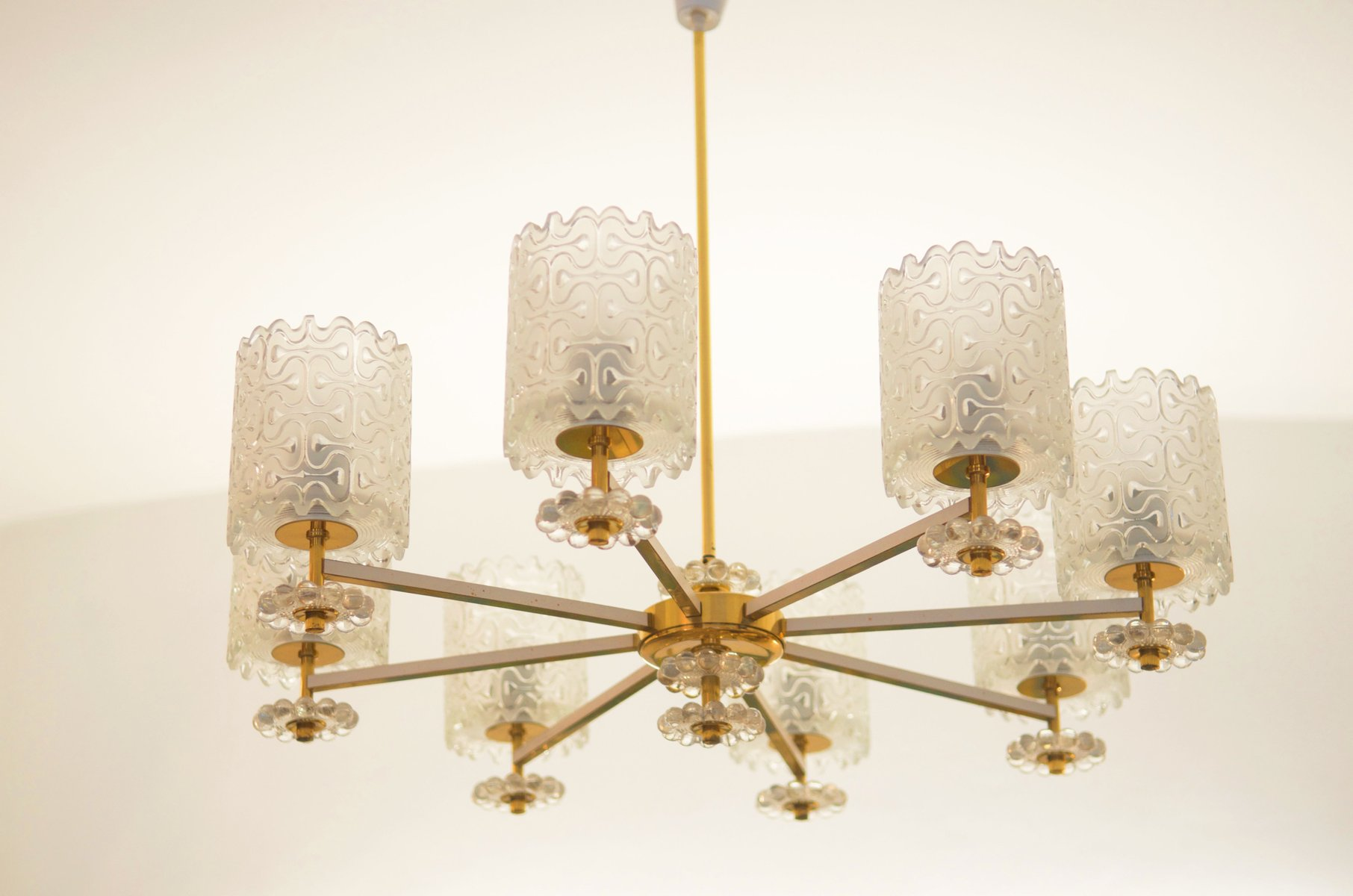 Vintage brass and glass chandelier from austria 1970s for sale at vintage brass and glass chandelier from austria 1970s for sale at pamono mozeypictures Images