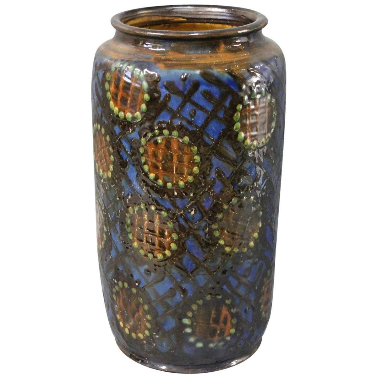 Large Ceramic Floor Vase By Herman K 228 Hler 1930s For Sale