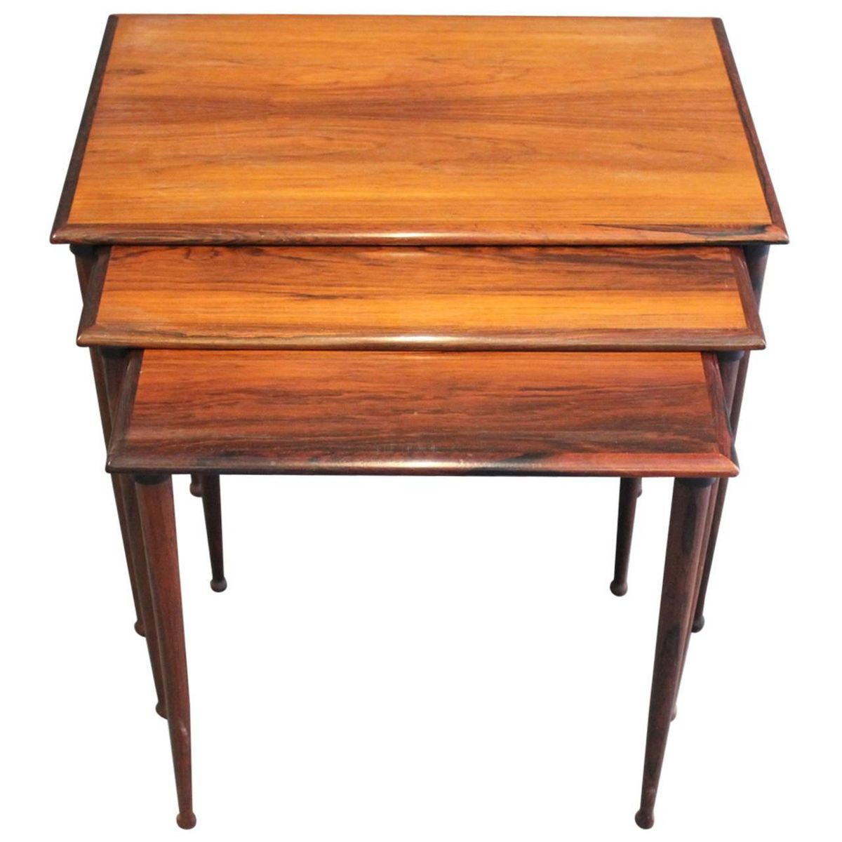 Rosewood Nesting Tables by BC Furniture 1960s for sale at