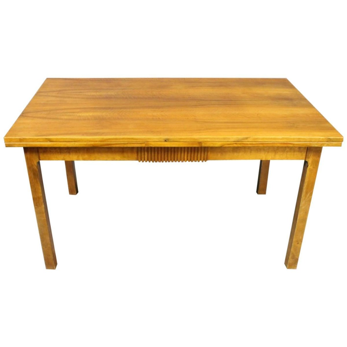 Extendable danish walnut dining table 1940s for sale at for Walnut dining table