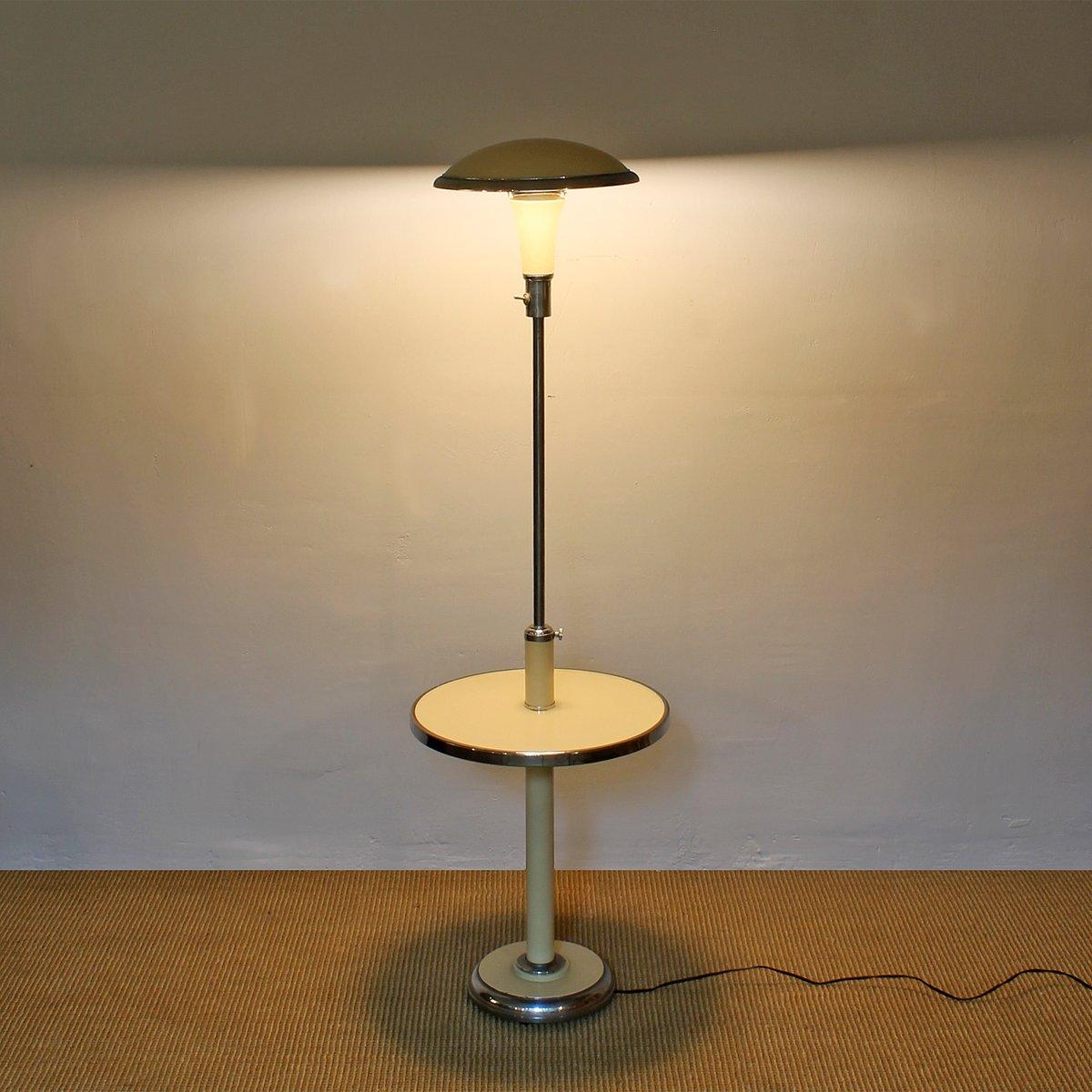 art deco stehlampe mit ablage 1930er bei pamono kaufen. Black Bedroom Furniture Sets. Home Design Ideas