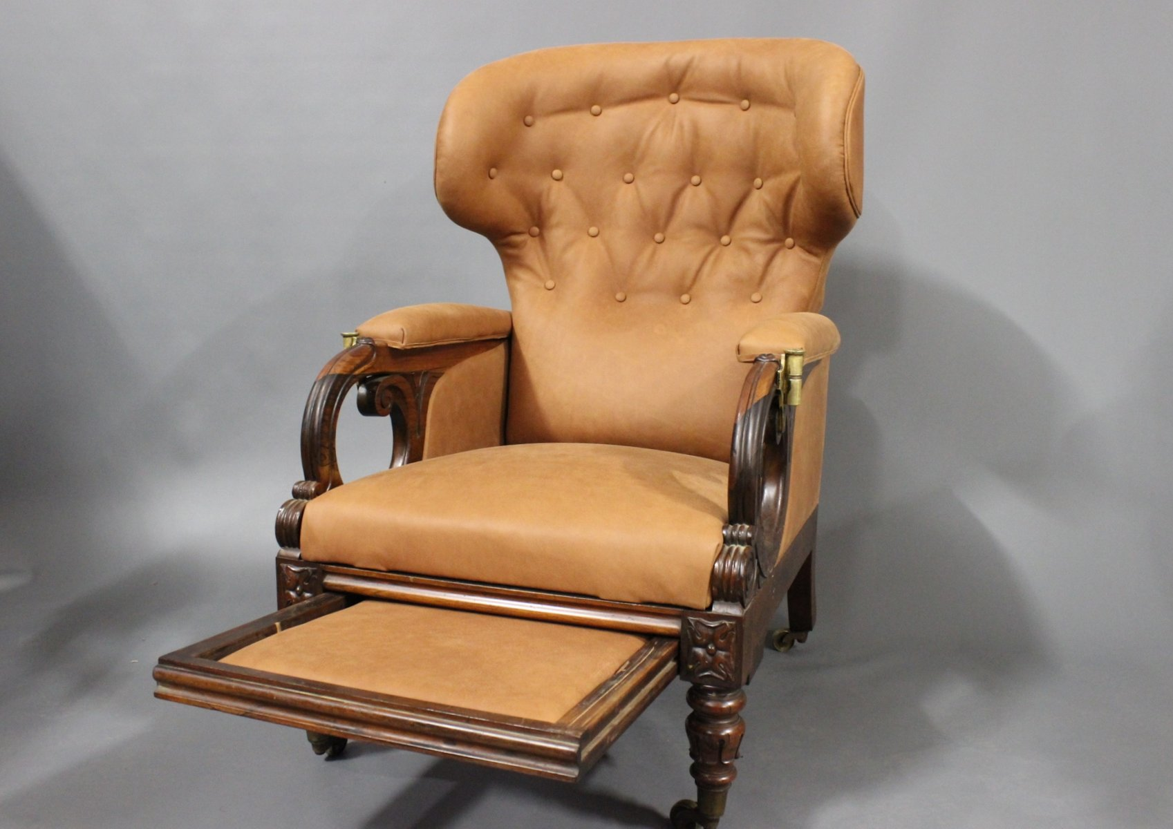 William IV Reclining Wingback Chair from George Minter 1830s for