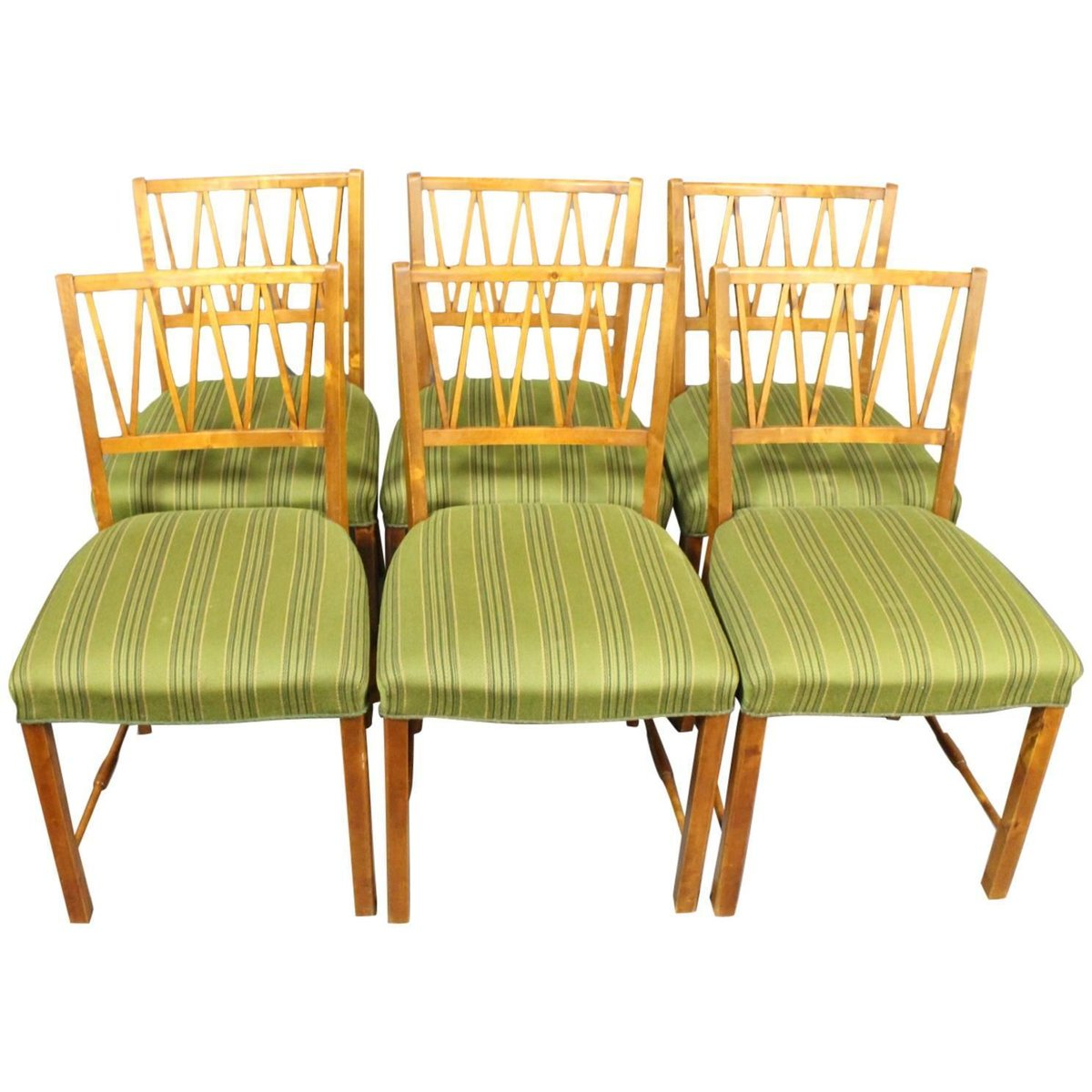 danish walnut dining chairs 1940s set of 6 for sale at pamono