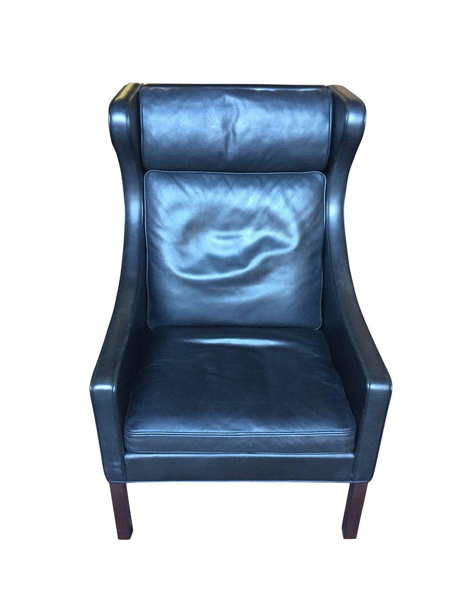 fauteuil oreilles mod le 2204 par b rge mogensen pour fredericia 1970s en vente sur pamono. Black Bedroom Furniture Sets. Home Design Ideas