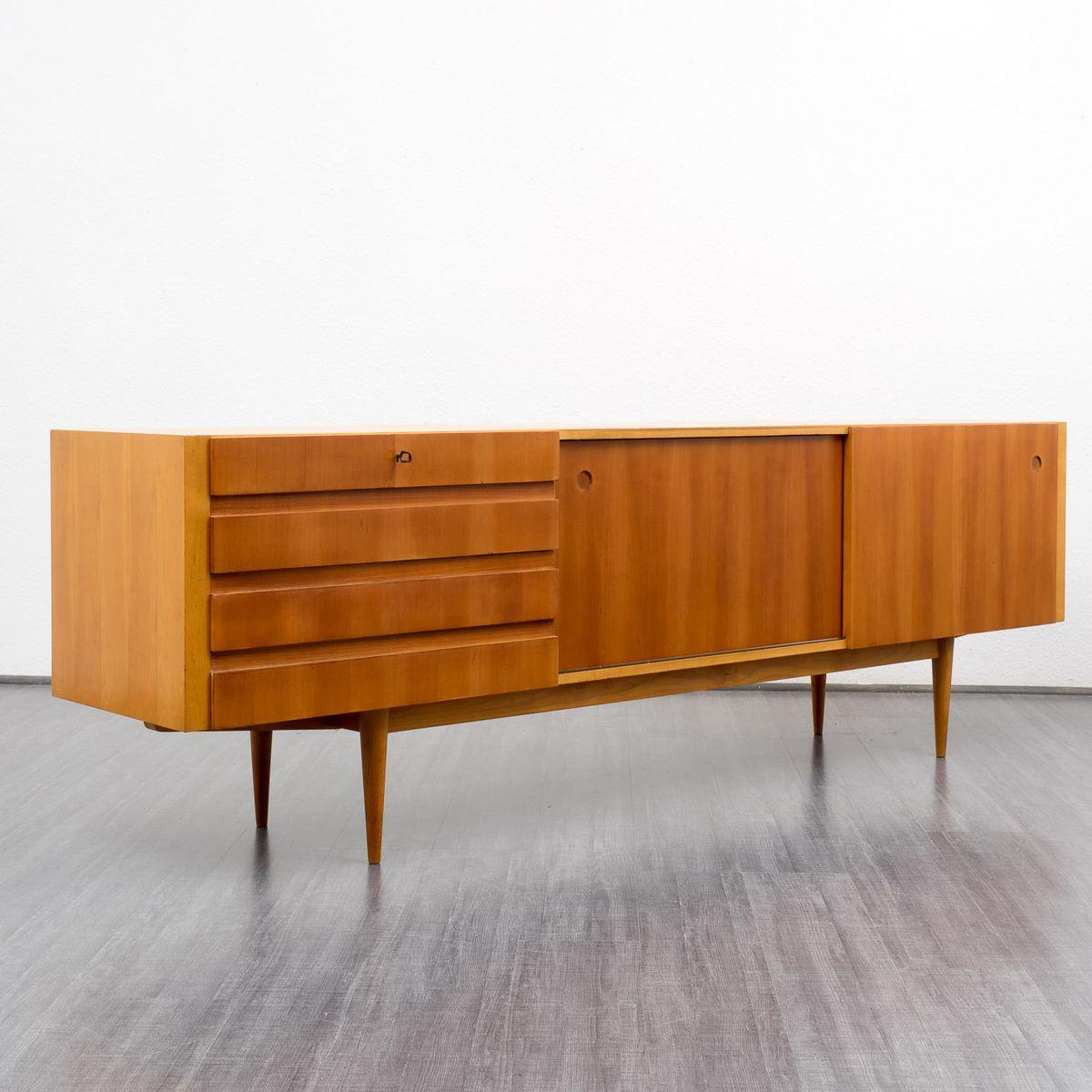 kirschholz sideboard 1960er bei pamono kaufen. Black Bedroom Furniture Sets. Home Design Ideas