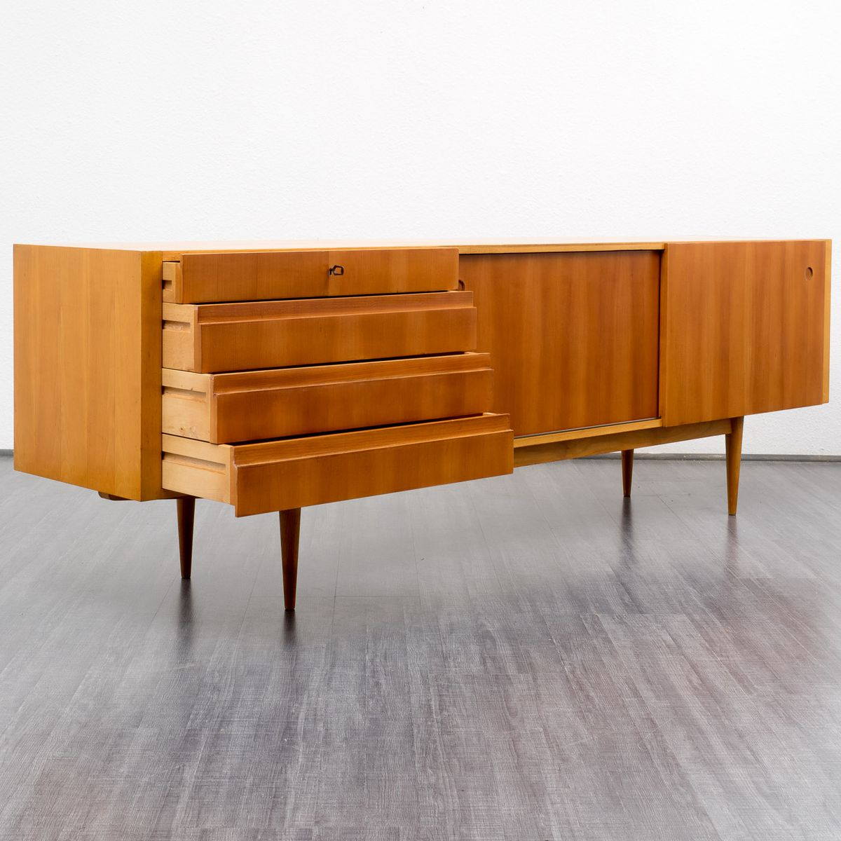 Cherrywood sideboard 1960s for sale at pamono for Sideboard 250 cm