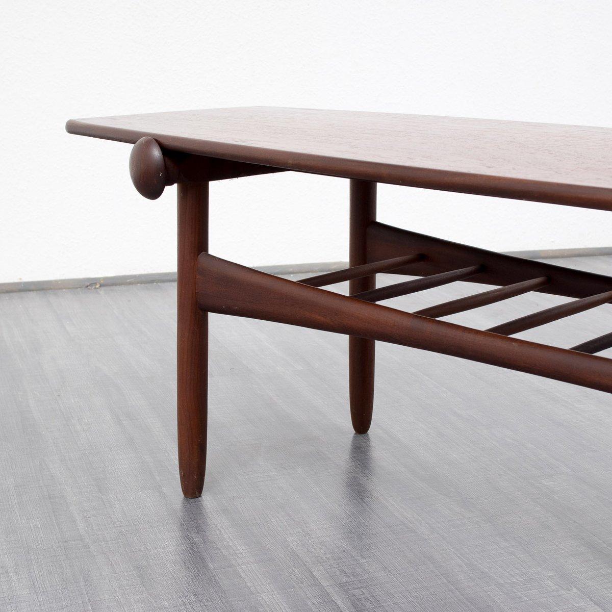Teak Coloured Coffee Table: Scandinavian Style Teak Coffee Table, 1960s For Sale At Pamono