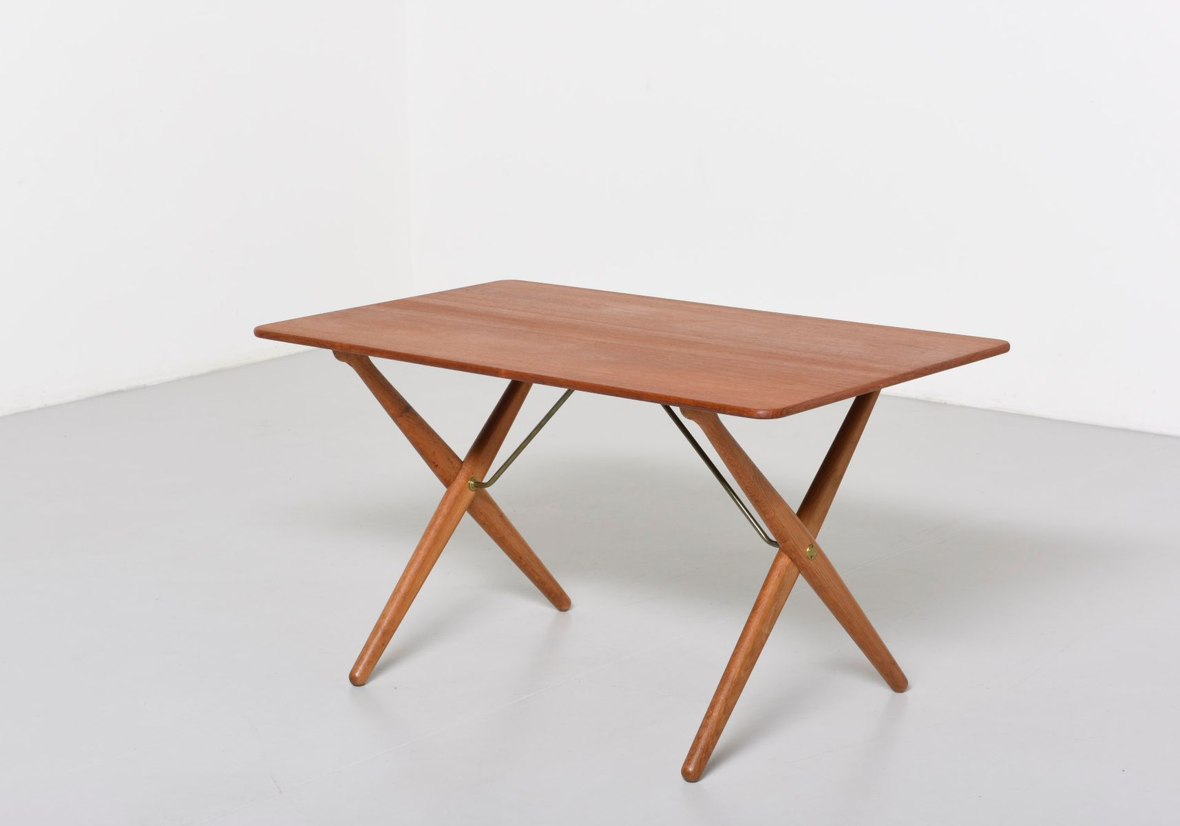 AT308 Cross Legged Coffee Table by Hans J Wegner for Andreas Tuck